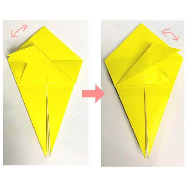 折り紙で魚をつくろう!エンゼルフィッシュ(熱帯魚)の折り方 (8)