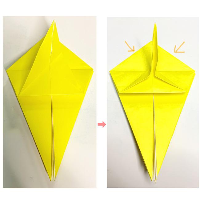 折り紙で魚をつくろう!エンゼルフィッシュ(熱帯魚)の折り方 (9)