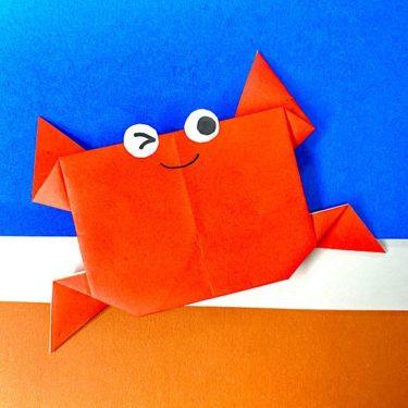 折り紙のカニ 平面でもカワイイ♪かに の折り方(簡単)