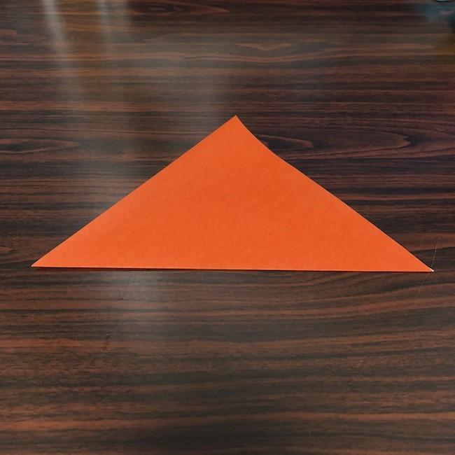 折り紙をつかったジャック オ ランタンの折り方 (1)