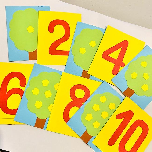 数字カードを手作り♪幼児の遊びだけでなく特別支援教育にも★ (10)