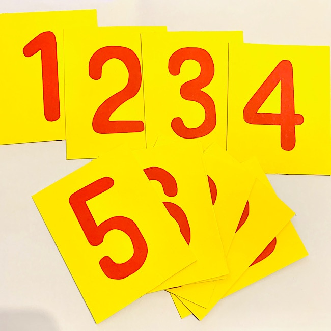 1から10まで お花の数字カードの作り方