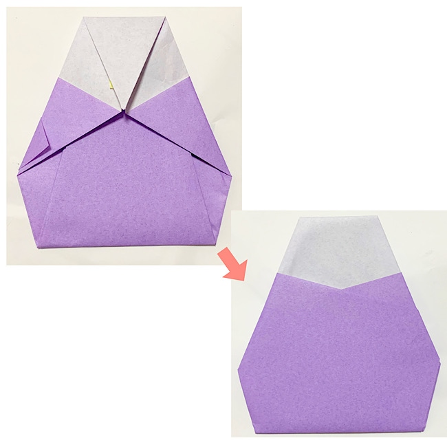 織姫と彦星の折り紙~1枚で1体できます♪~
