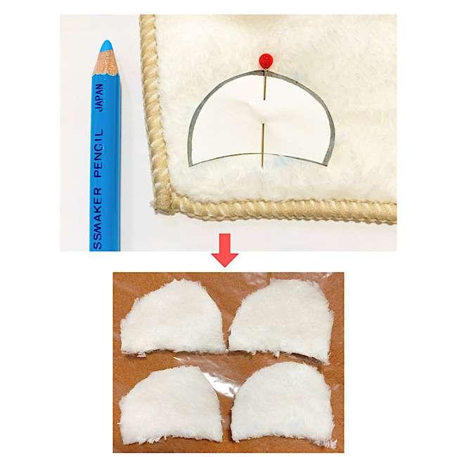 赤ちゃんのおもちゃ|手作りのにぎにぎクマさんの作り方☆型紙つき (2)