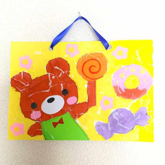 【ちぎり絵】折り紙でのやり方・作り方★コツいらずで簡単なアート