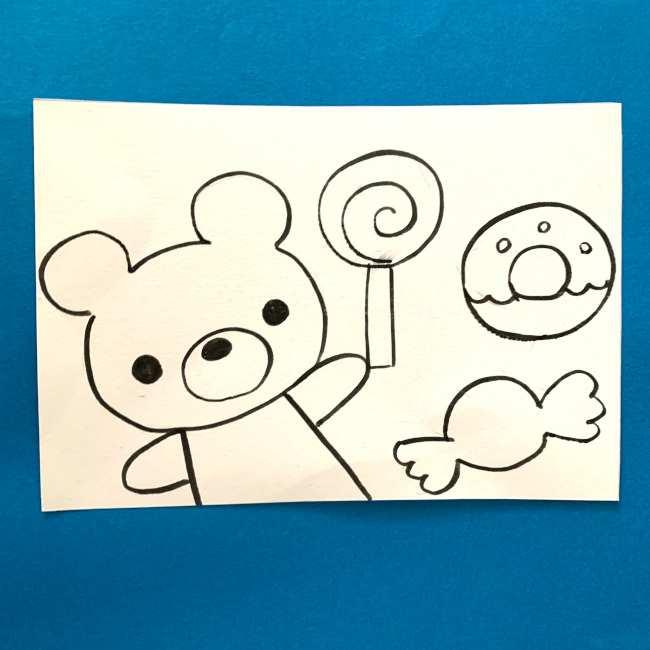 【ちぎり絵】折り紙でのやり方・作り方 (1)