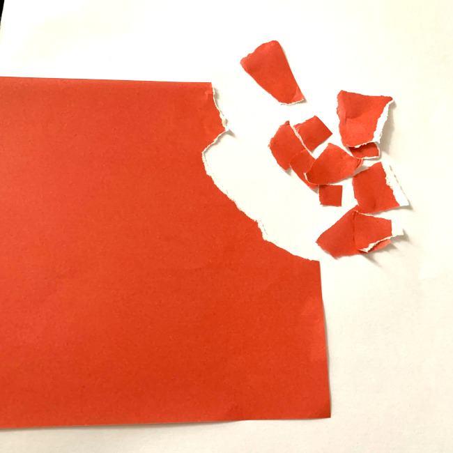 【ちぎり絵】折り紙でのやり方・作り方 (2)