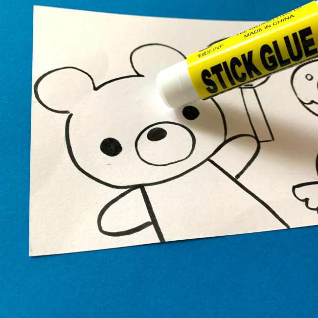 【ちぎり絵】折り紙でのやり方・作り方 (3)
