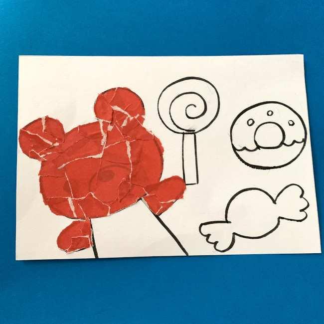 【ちぎり絵】折り紙でのやり方・作り方 (4)