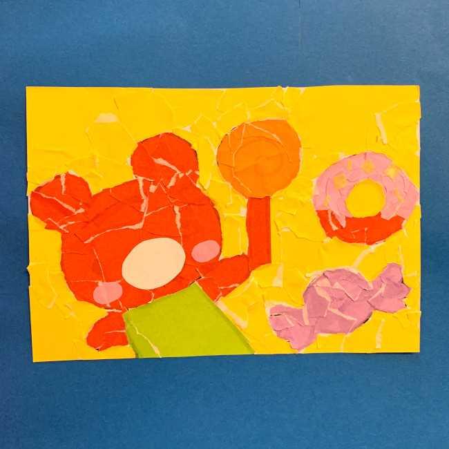 【ちぎり絵】折り紙でのやり方・作り方 (7)