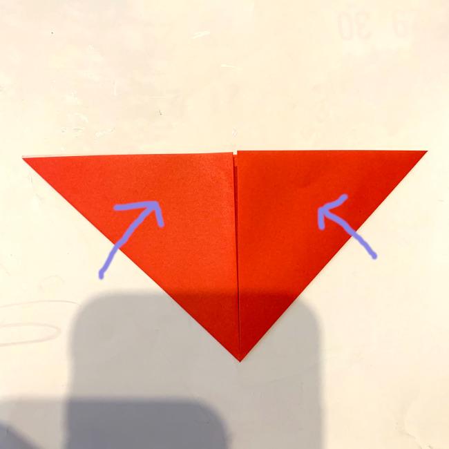 サンタさんの折り紙★作り方★