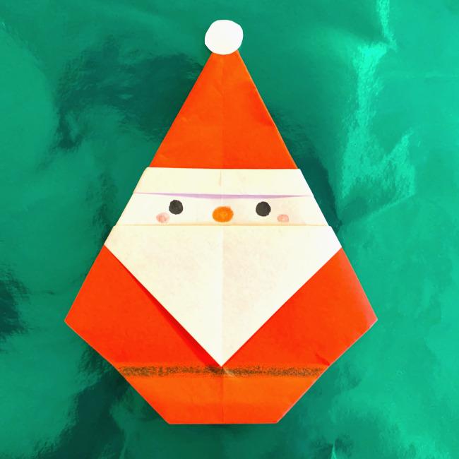 【サンタの折り紙】簡単で3歳の幼児からOK♪12月クリスマス用の折り方