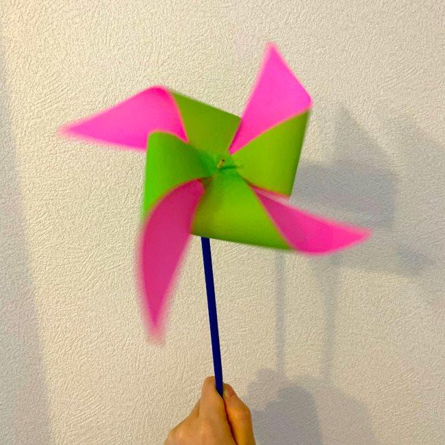 【風車】折り紙でできる簡単で立体的な二色風車の作り方・折り方★