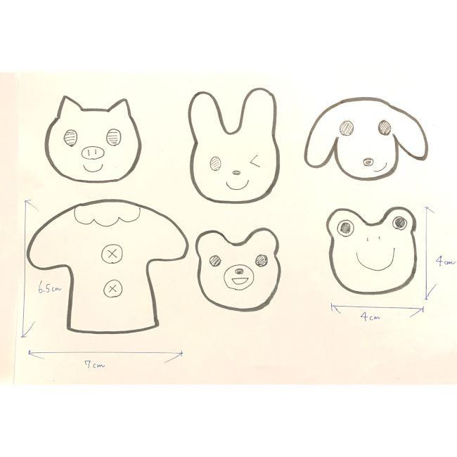 フェルトの指人形の作り方☆型紙(無料)つき (1)