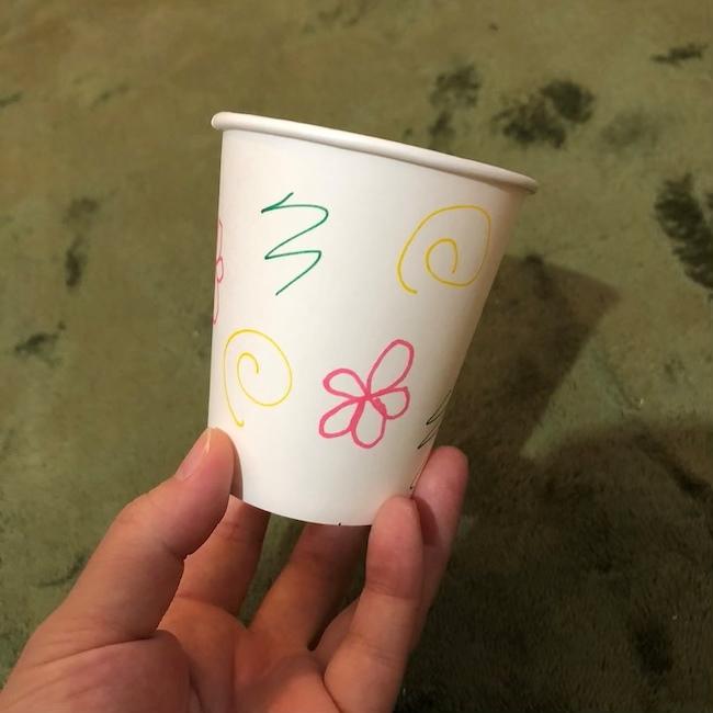紙コップ工作|簡単なけん玉の作り方