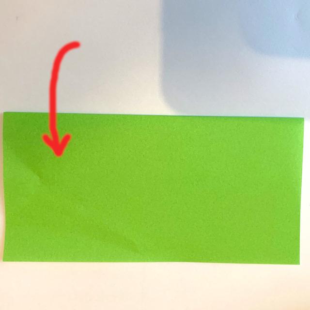 折り紙の電車(平面)の作り方 (1)