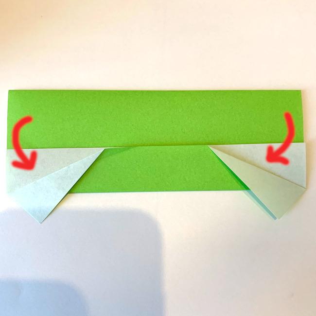 折り紙の電車(平面)の作り方 (3)