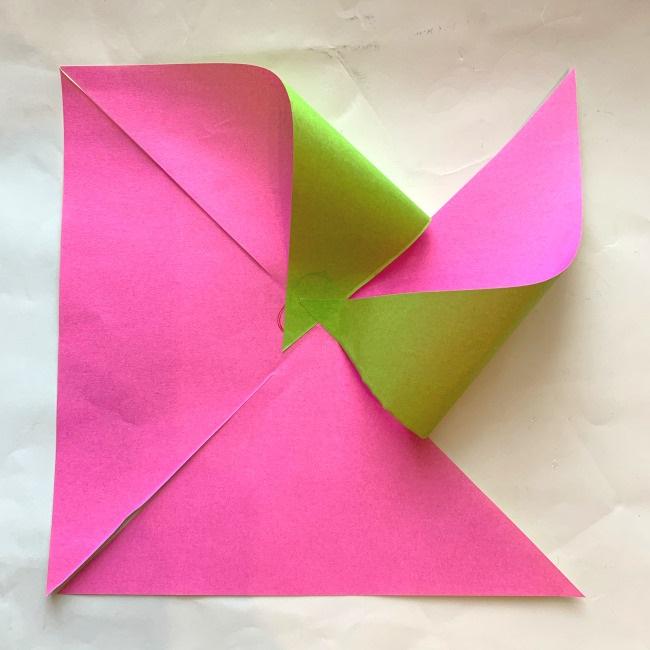 折り紙の風車の作り方 (10)