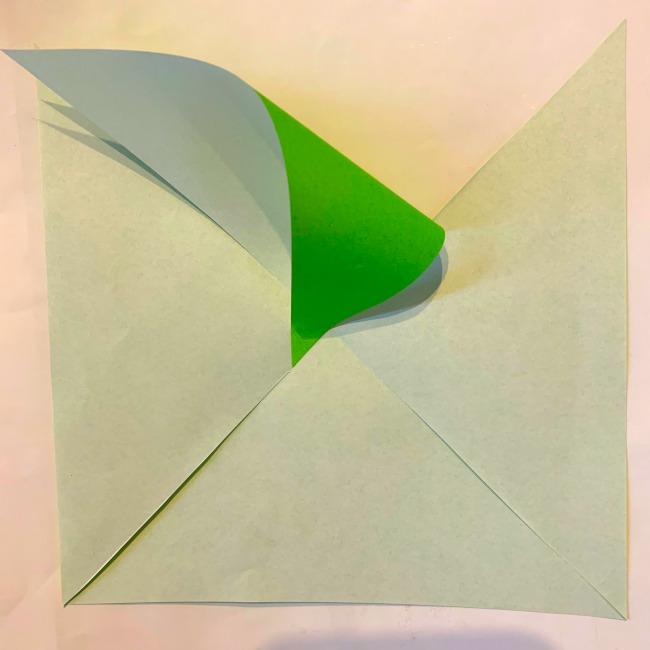 折り紙の風車の作り方 (9)