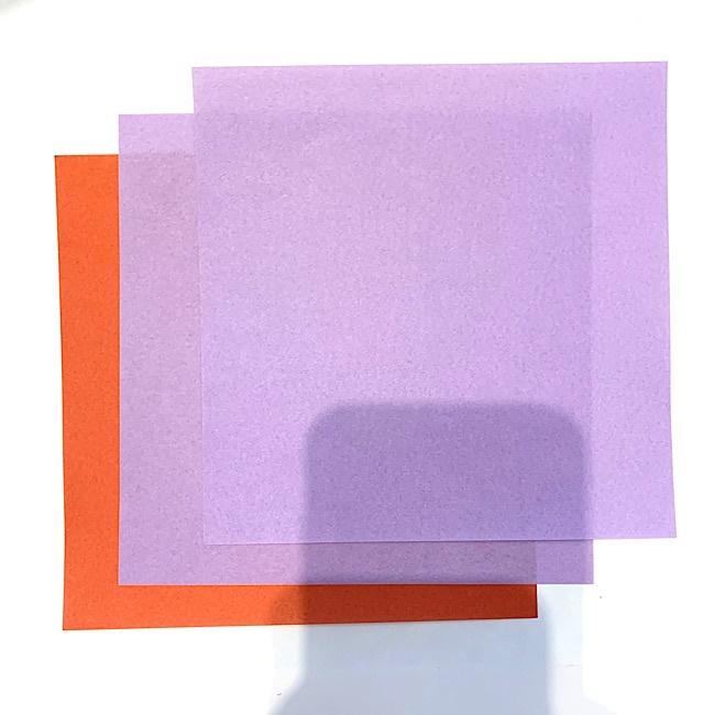 ぶどうを折り紙で子ども(3歳児)と作ったよ♪