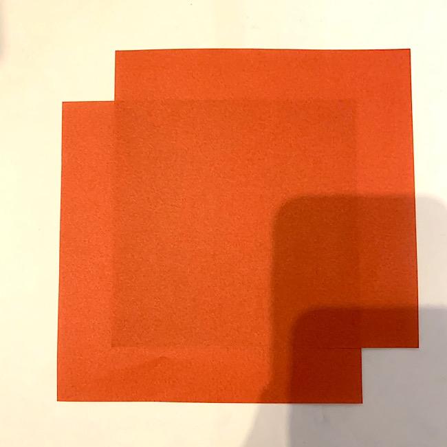きつねを折り紙でこども(3歳)と作ったよ♪