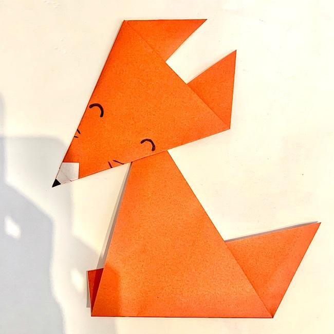 きつねの折り紙こども(3歳~)とつくる簡単な作り方折り方★11月の保育園・幼稚園の製作にピッタリ!