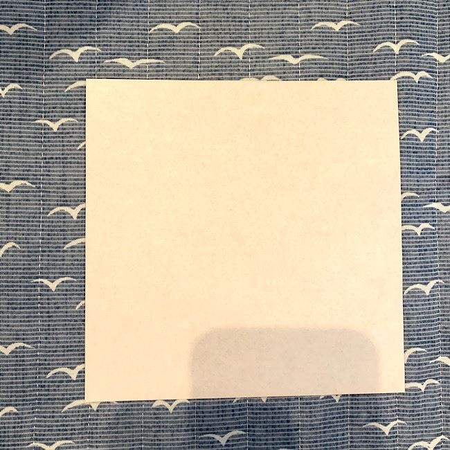 キツネの折り紙 簡単な作り方・折り方