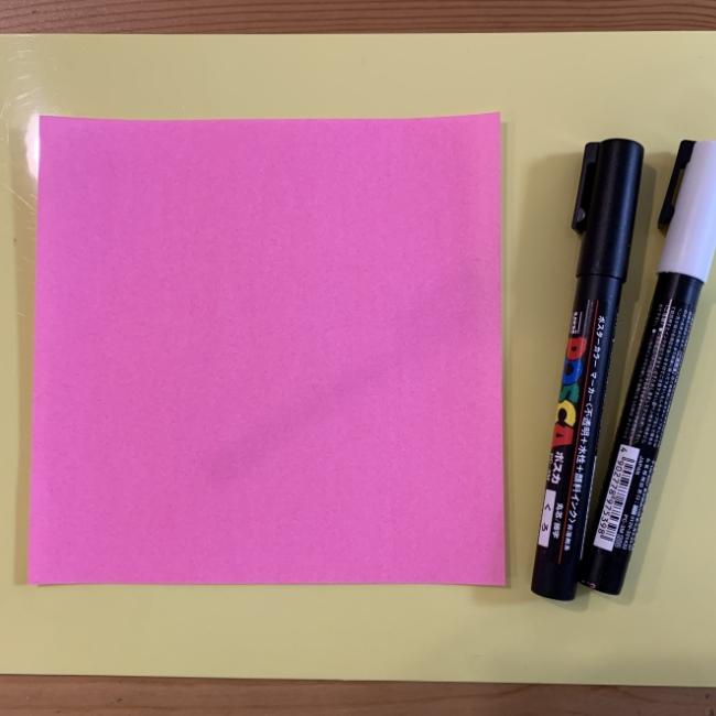すみっこぐらし『ふろしき』は折り紙とペンで手作りできる♪