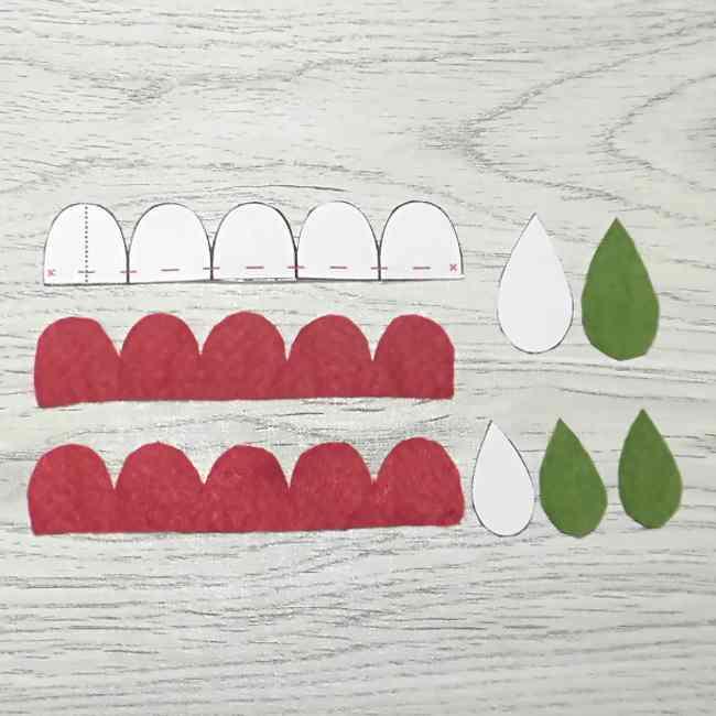 フェルトのコサージュの作り方型紙つきで解説 (2)