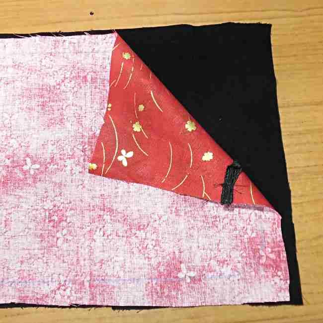 マスクケース(二つ折り)の作り方・縫い方 (13)