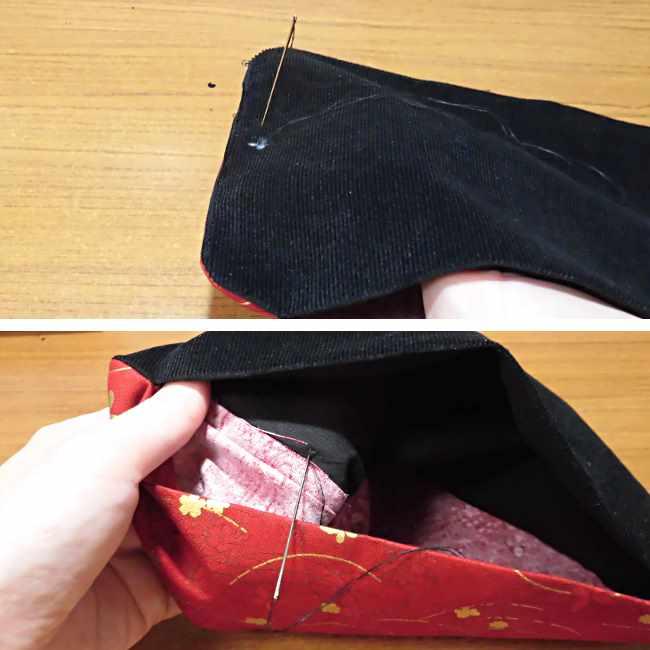 マスクケース(二つ折り)の作り方・縫い方 (24)