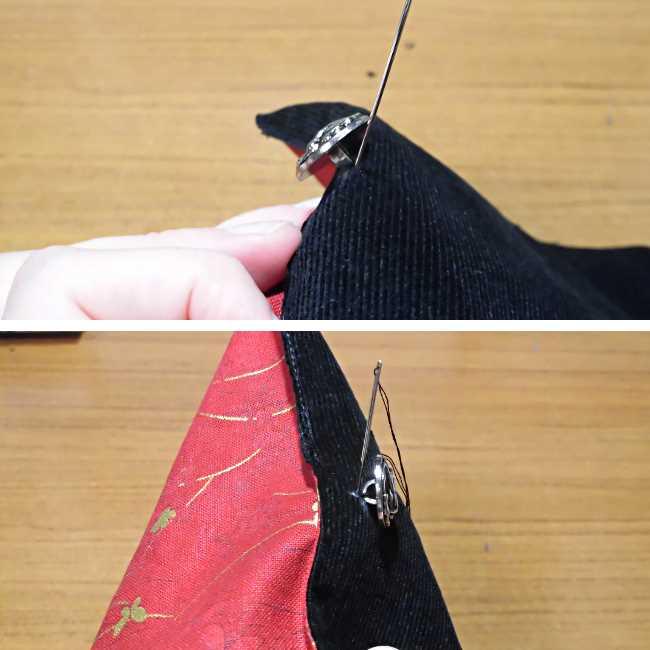 マスクケース(二つ折り)の作り方・縫い方 (25)