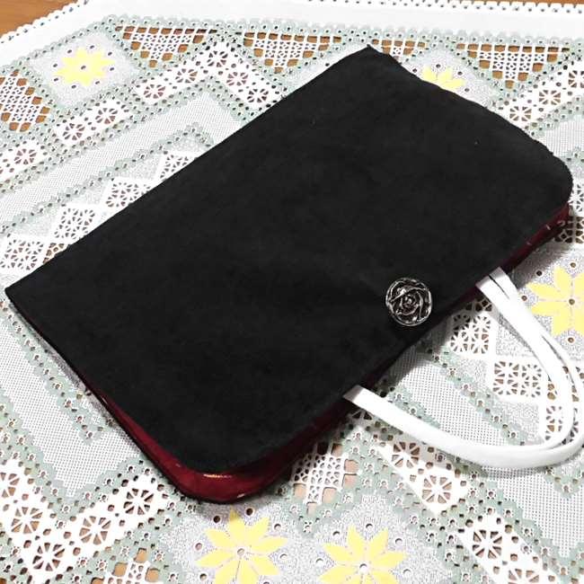 マスクケース(二つ折り)の作り方縫い方☆布で簡単に手作りできるボタン付きおしゃれポーチ
