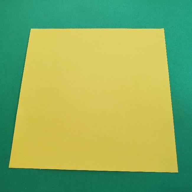 マリオの折り紙『ノコノコ』『ヨッシー』準備するもの