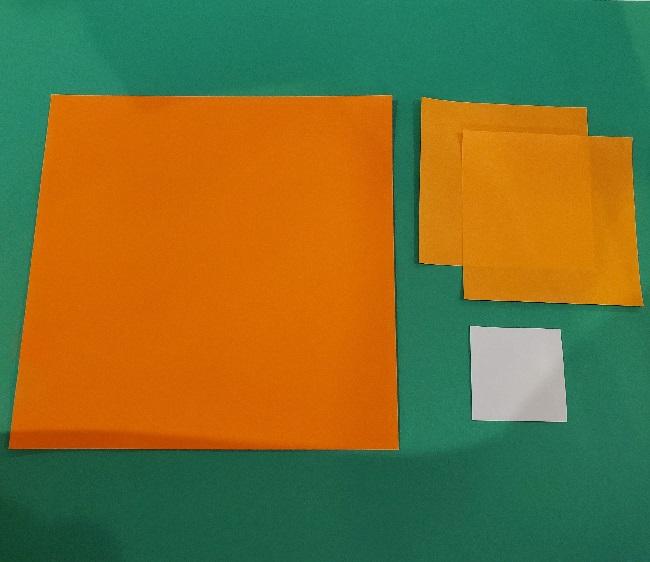 リラックマの折り紙|用意するもの