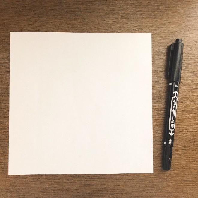 折り紙のスヌーピー(平面)用意するもの