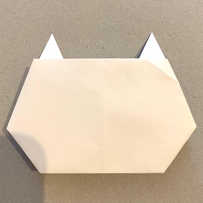 折り紙|平面の猫(ねこ)の折り図 (10)