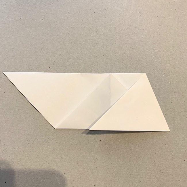 折り紙|平面の猫(ねこ)の折り図 (5)