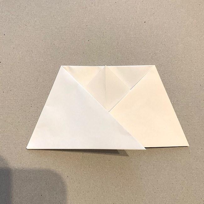 折り紙|平面の猫(ねこ)の折り図 (6)
