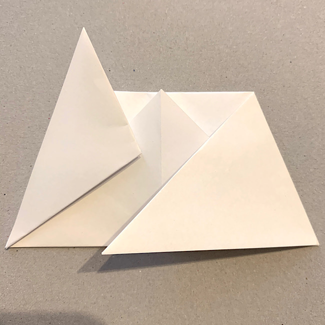 折り紙|平面の猫(ねこ)の折り図 (7)