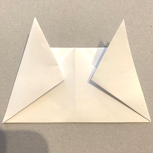 折り紙|平面の猫(ねこ)の折り図 (8)