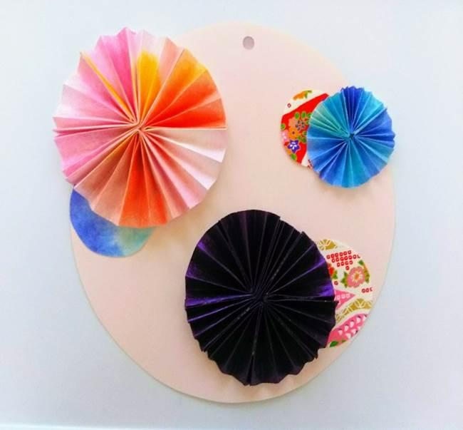 色画用紙の花の壁面飾りは簡単♪作り方 (7)