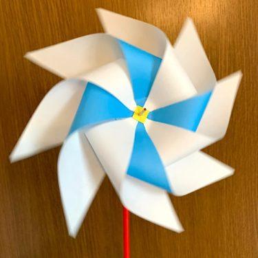 風車 折り紙2枚使用でかわいい♪二色の風車の折り方・作り方★鯉のぼりの先につけてもOK!