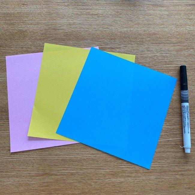すみっこぐらし★タピオカの折り紙の作り方【用意する物】