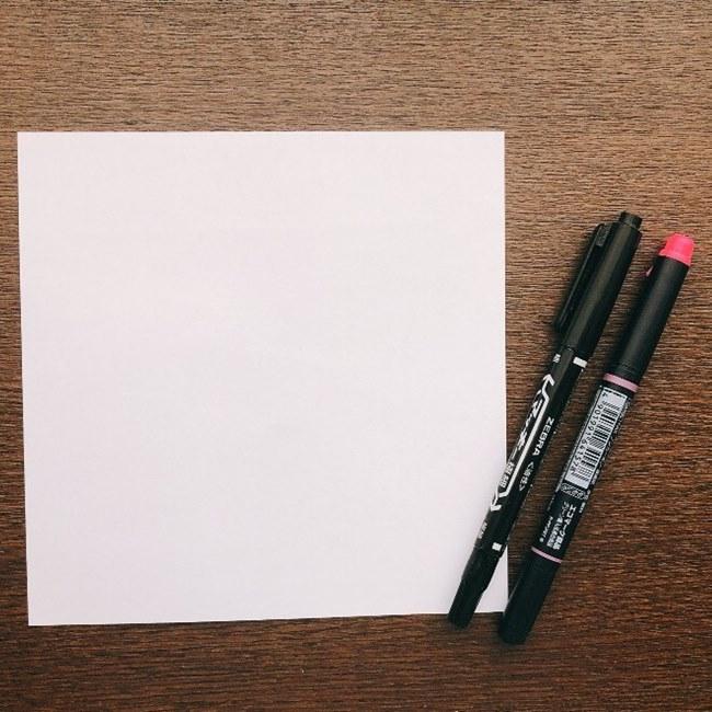 すみっこ*おばけの折り紙【用意するもの】