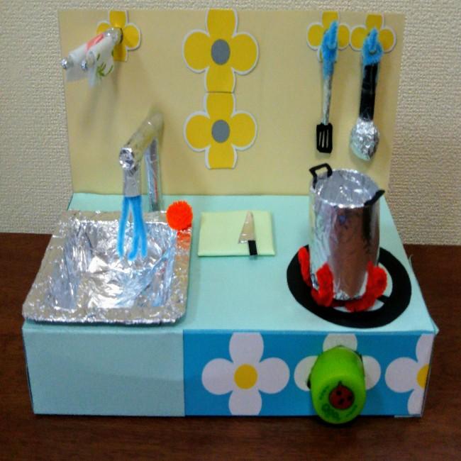 おもちゃのキッチンが手作りで簡単に完成♪
