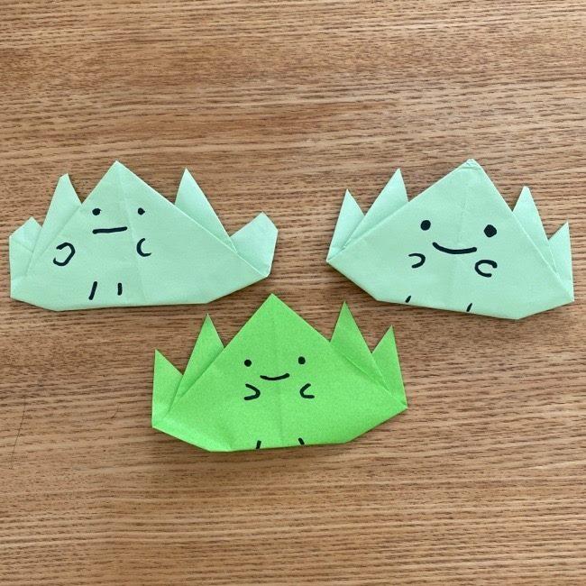 折り紙でつくるすみっこの『ざっそう』は簡単すぎる!でもかわいい!