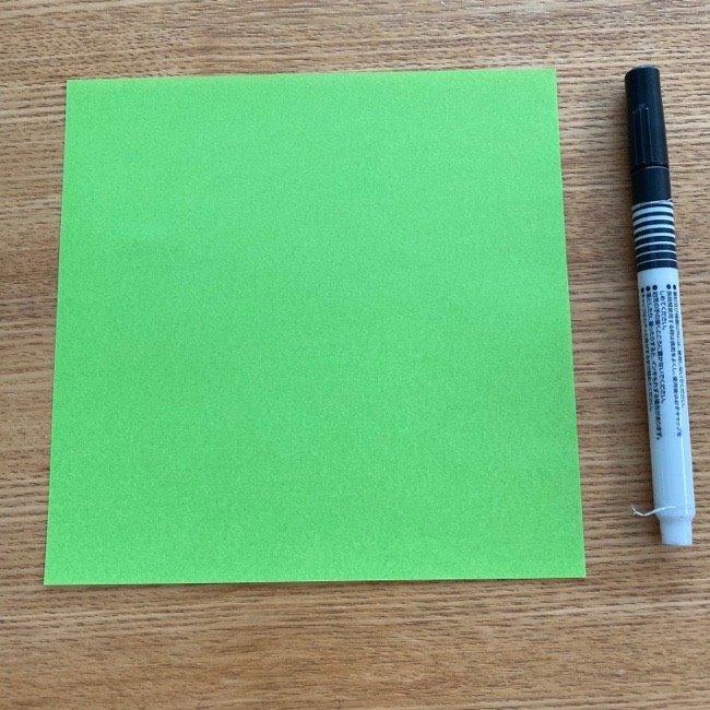 折り紙のすみっこ『ざっそう』をつくるのに用意するもの
