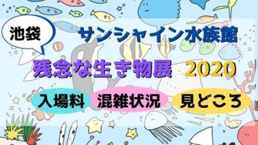 残念な生き物展(2020年)★池袋のサンシャイン水族館へ行ってきました♪入場料や混雑状況など感想をレポート!