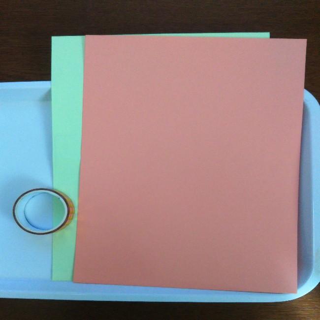 色画用紙で作るかばん製作:材料と道具